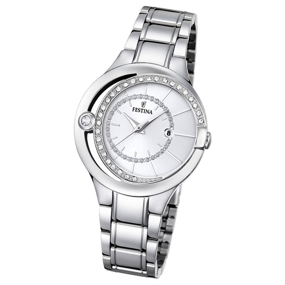 Festina Damen-Armbanduhr Mademoiselle analog Quarz Edelstahl silber UF16947/1