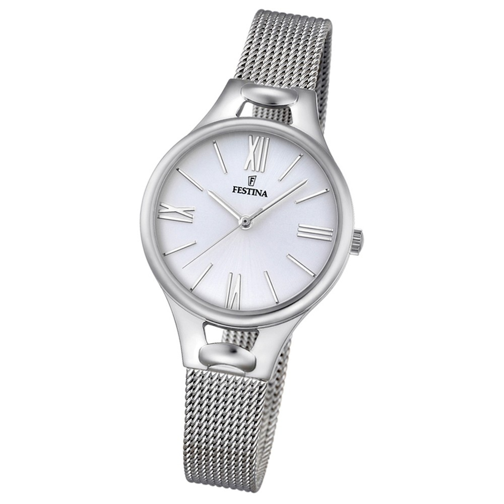 Festina Damen-Armbanduhr Mademoiselle analog Quarz Edelstahl silber UF16950/1