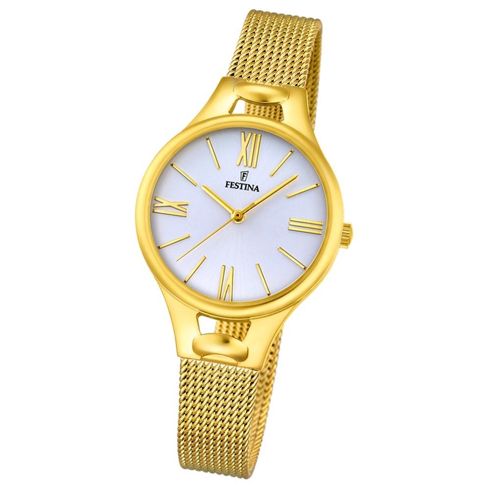 Festina Damen-Armbanduhr Mademoiselle analog Quarz Edelstahl gold UF16951/1