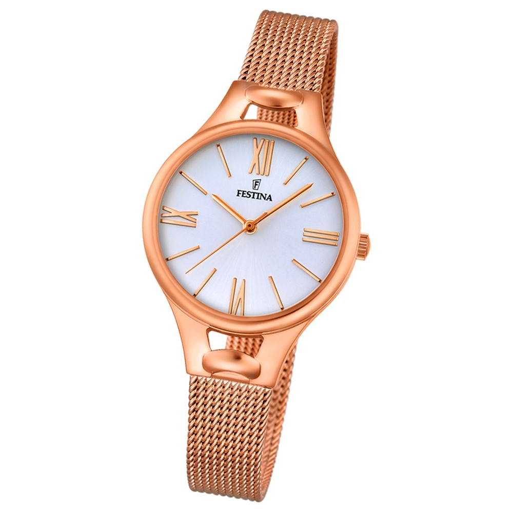 Festina Damen-Armbanduhr Mademoiselle analog Quarz Edelstahl rosegold UF16952/1