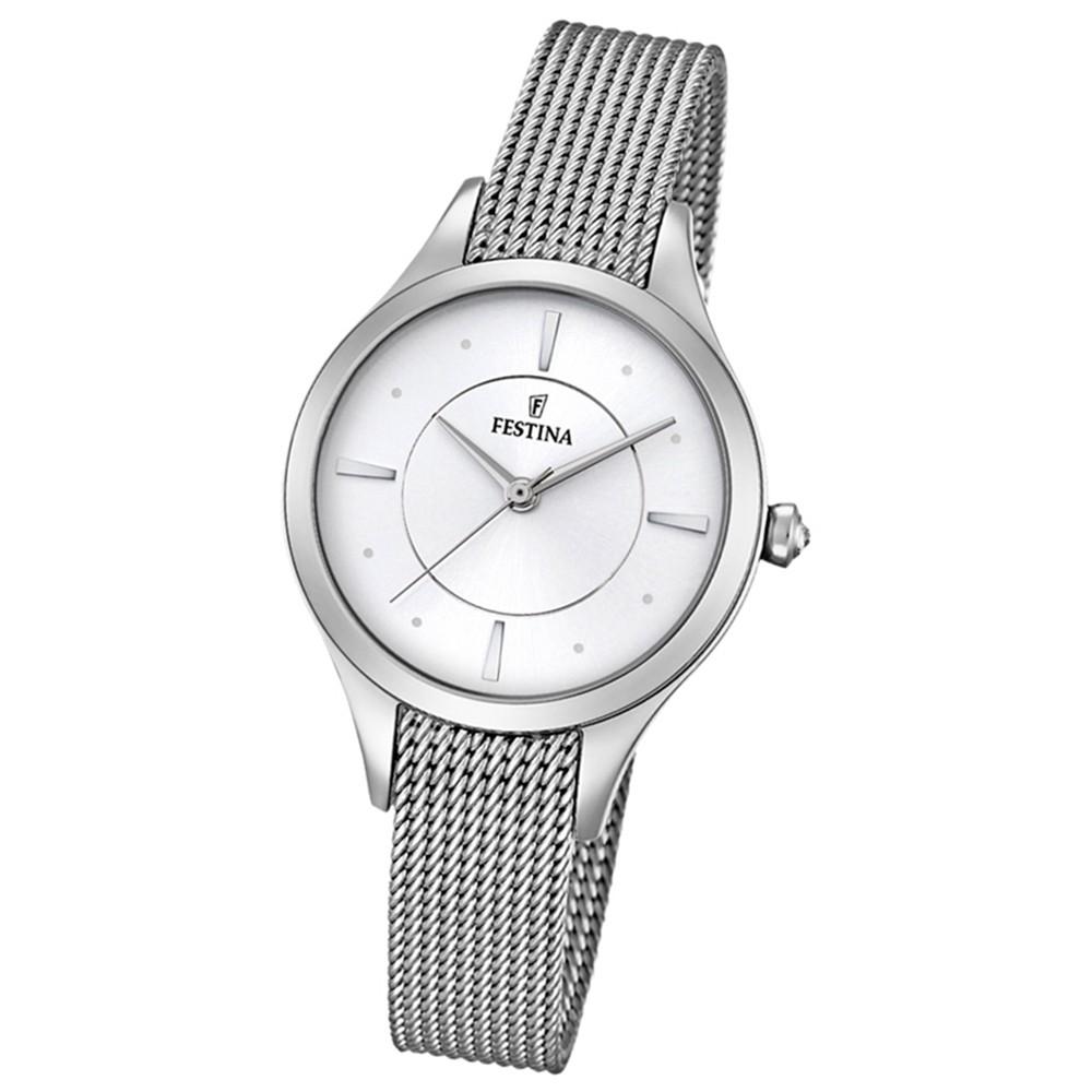 Festina Damen-Armbanduhr Mademoiselle analog Quarz Edelstahl silber UF16958/1