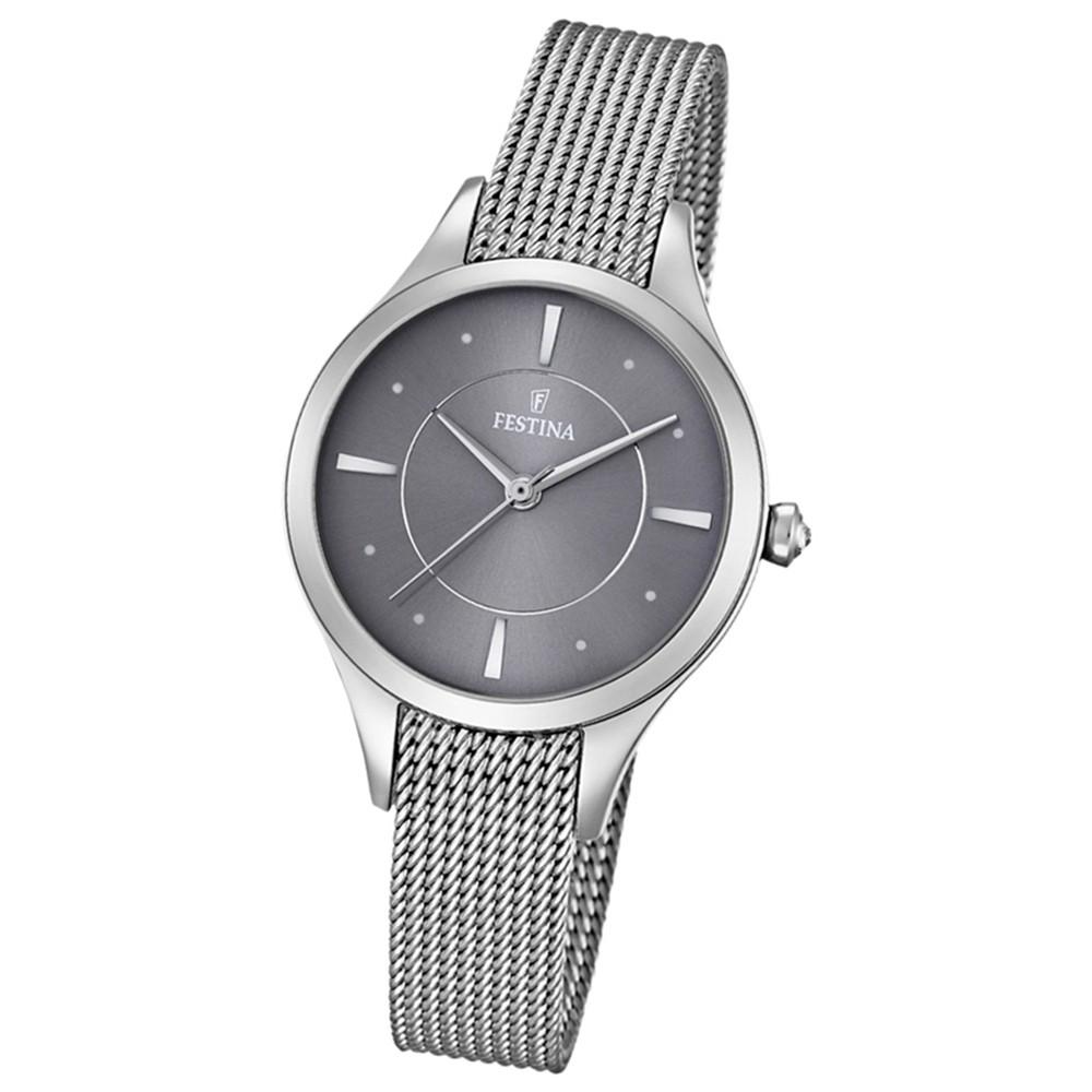 Festina Damen-Armbanduhr Mademoiselle analog Quarz Edelstahl silber UF16958/2