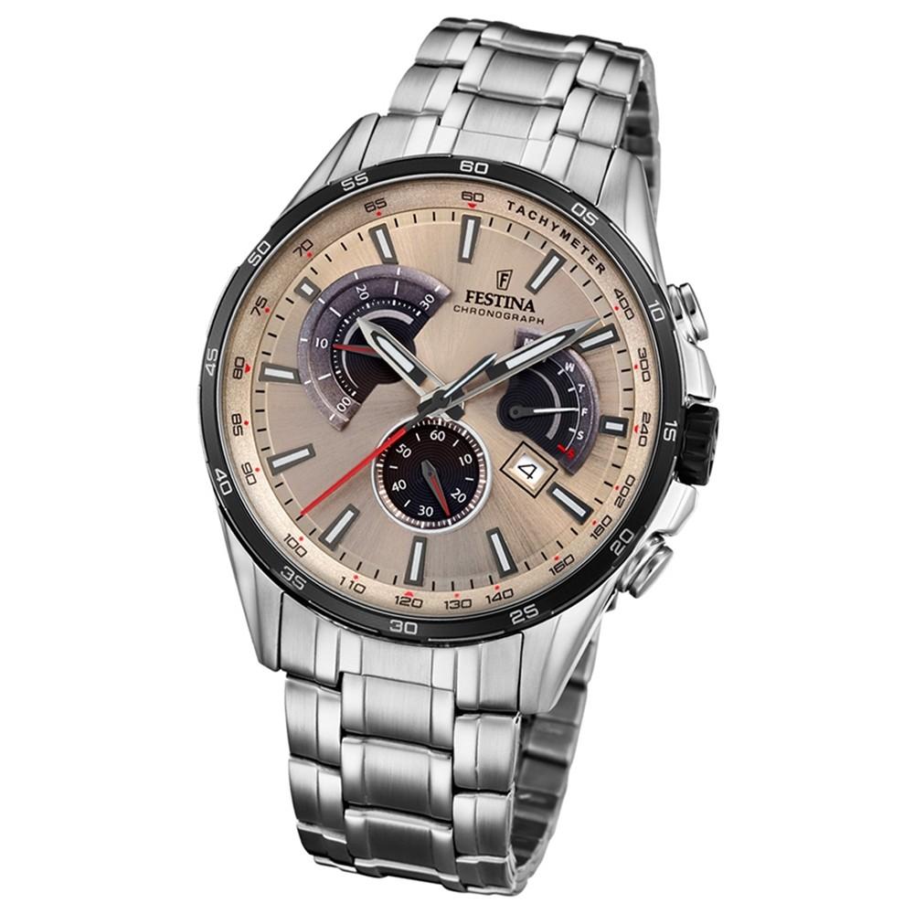 FESTINA Herren-Armbanduhr Chronograph Sport F20200/2 Quarz Edelstahl UF20200/2