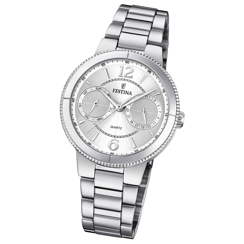 Festina Damen Armband-Uhr F20206/1 Quarz Edelstahl silber UF20206/1