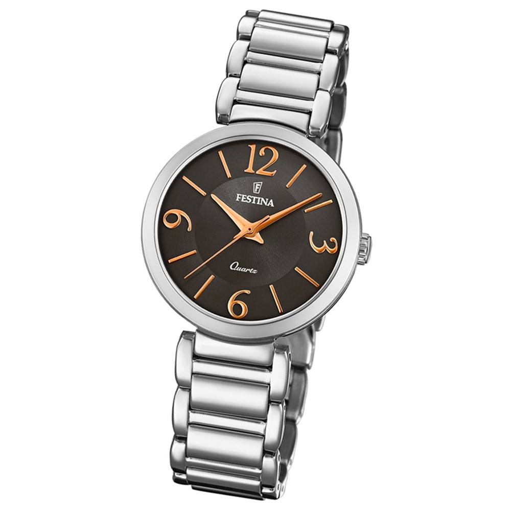 Festina Damen Armband-Uhr F20212/2 Quarz Edelstahl silber UF20212/2