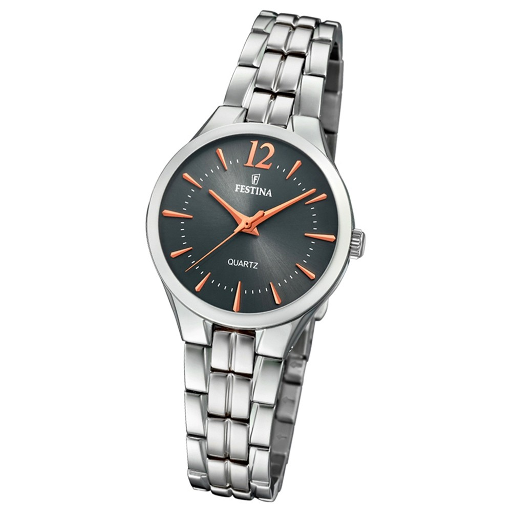 Festina Damen Armband-Uhr F20216/2 Quarz Edelstahl silber UF20216/2