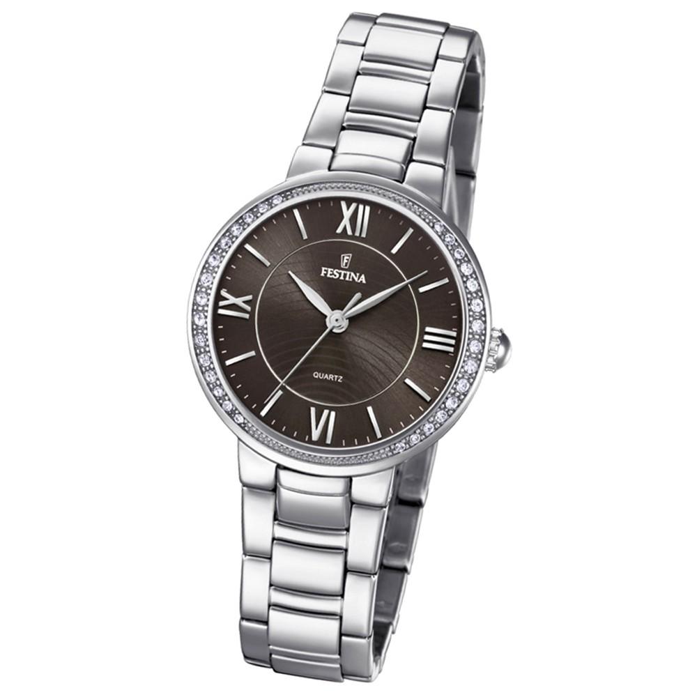 Festina Damen Armband-Uhr F20220/2 Quarz Edelstahl silber UF20220/2