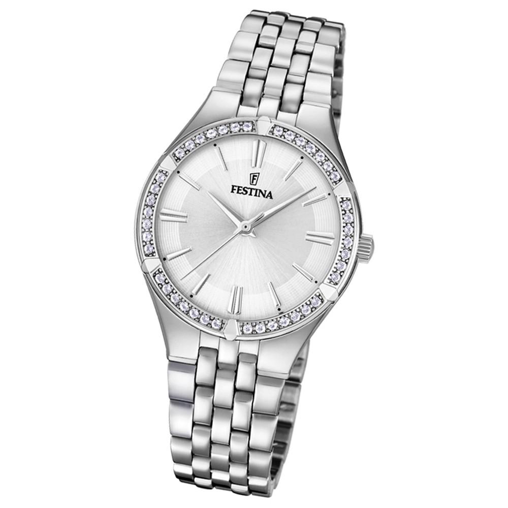 Festina Damen Armband-Uhr F20223/1 Quarz Edelstahl silber UF20223/1