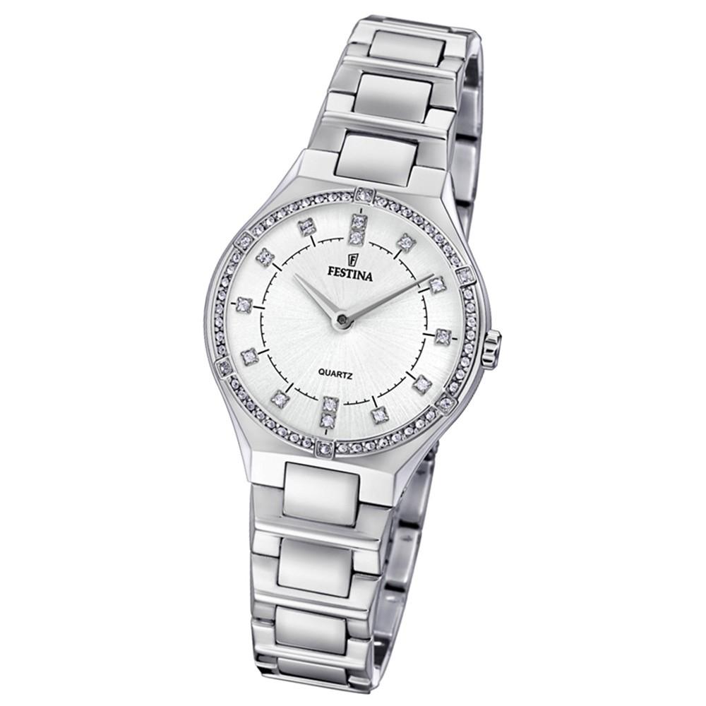 Festina Damen Uhr Edelstahl silber Quarz F20225/1 Slim Collection UF20225/1