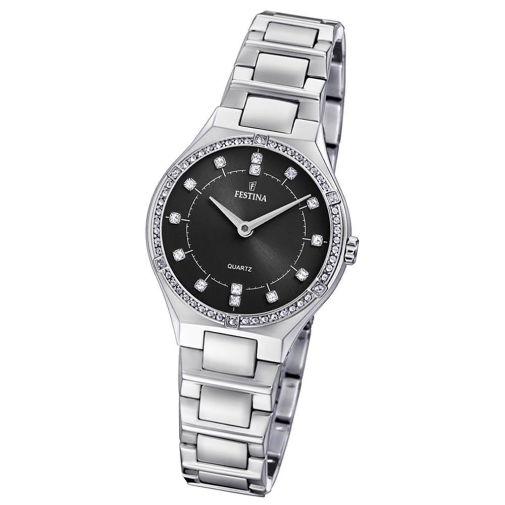Festina Damen Uhr Edelstahl silber F20225/2 Quarz Slim Collection UF20225/2