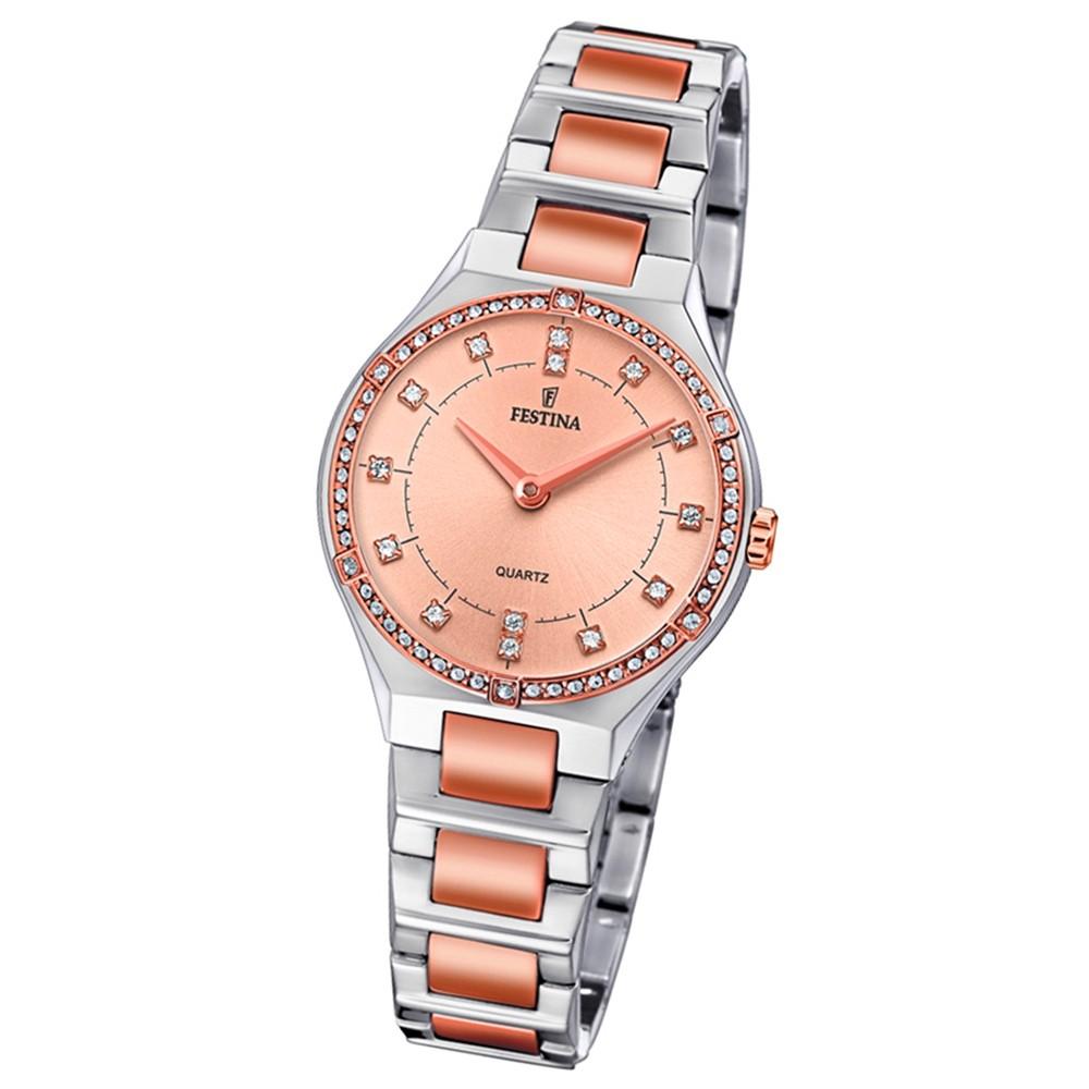 Festina Damen Uhr Edelstahl silber rosé F20226/4 Slim Collection UF20226/4