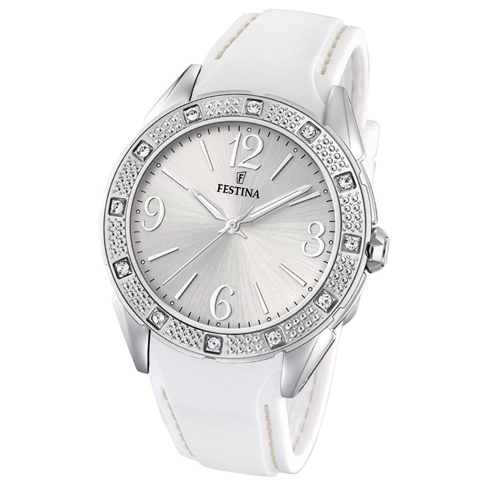 FESTINA Damen-Armbanduhr Ladies Classic F20243/1 Quarz PU weiß UF20243/1