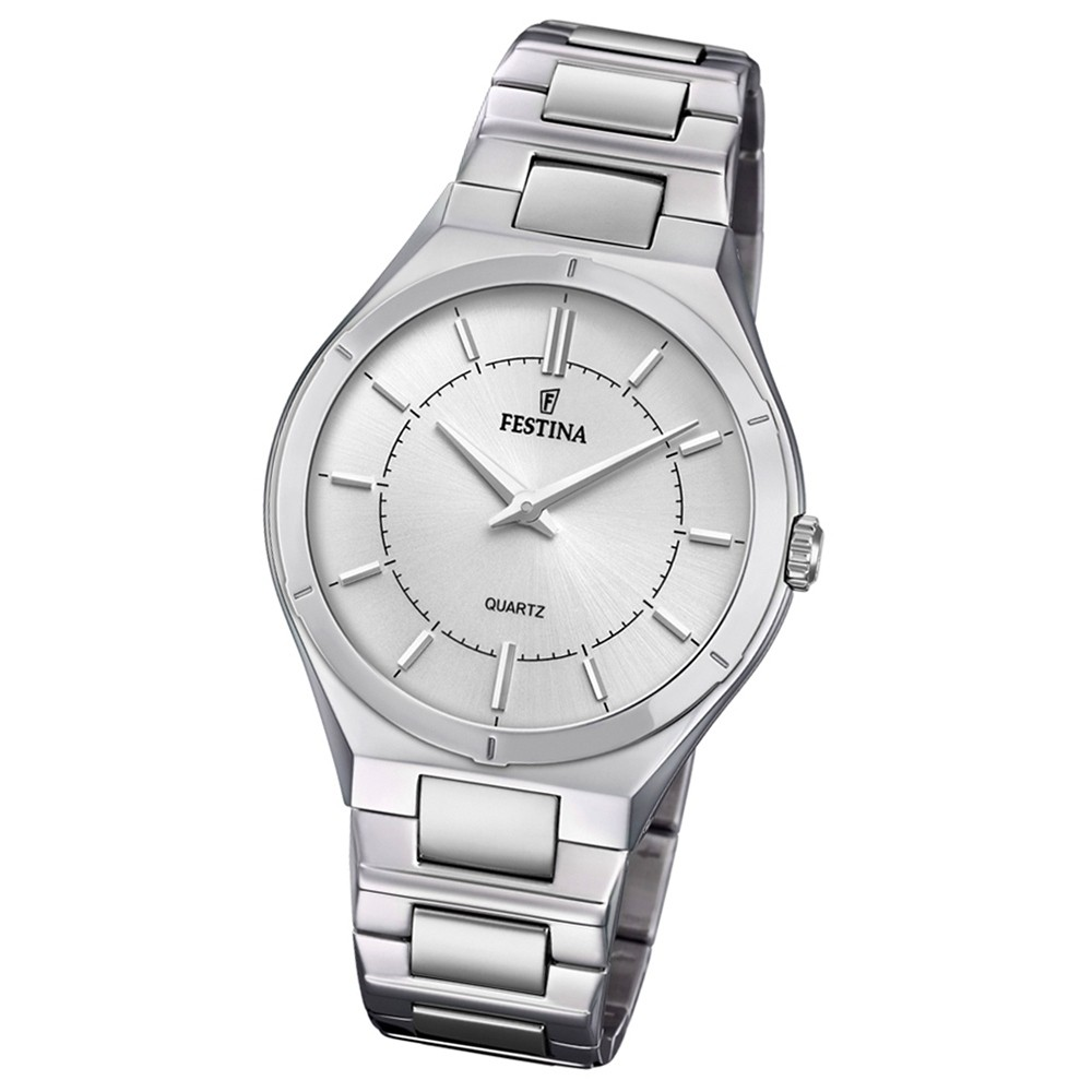 Festina Herren Armband-Uhr Edelstahl F20244/1 Slim Collection UF20244/1