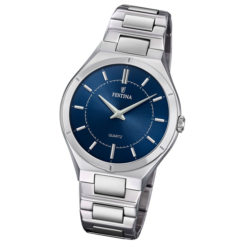Festina Herren Armband-Uhr Edelstahl F20244/2 Slim Collection UF20244/2