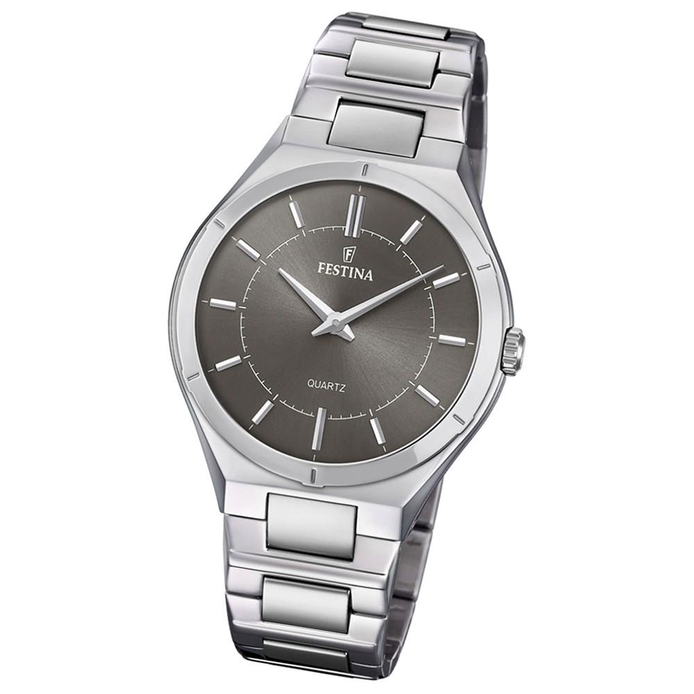 Festina Herren Armband-Uhr Edelstahl F20244/3 Slim Collection UF20244/3