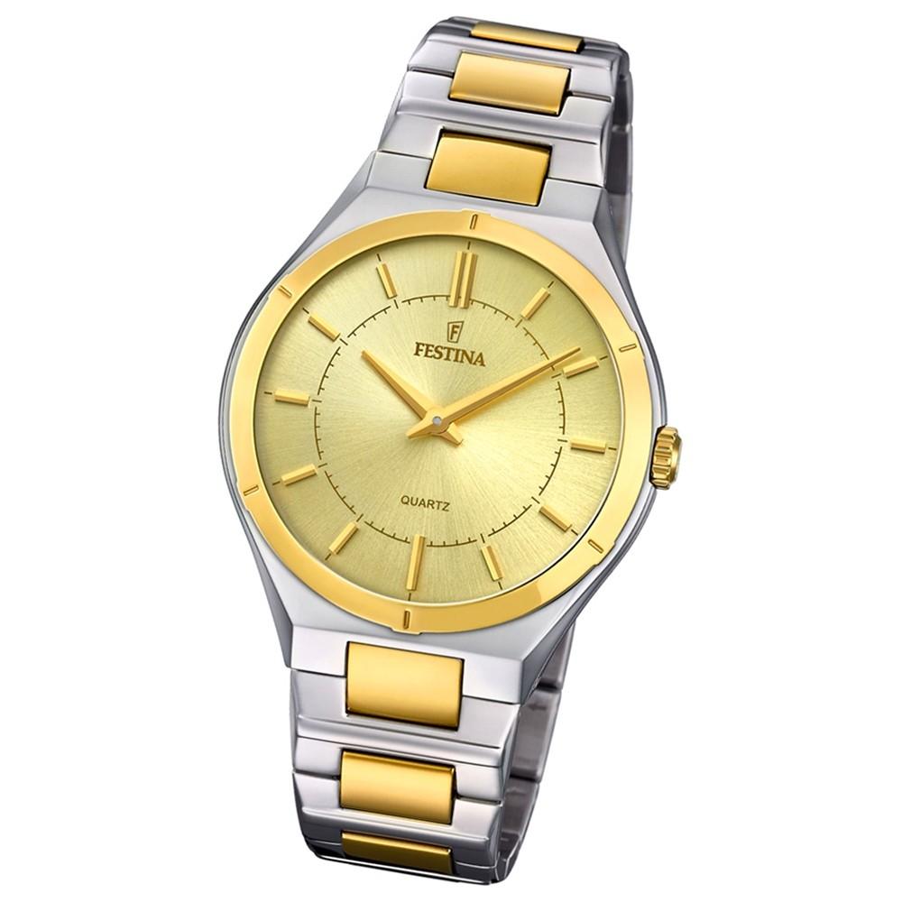 Festina Herren Armband-Uhr F20245/2 Edelstahl Slim Collection UF20245/2