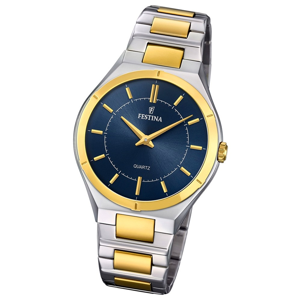 Festina Herren Armband-Uhr F20245/3 Edelstahl Slim Collection UF20245/3