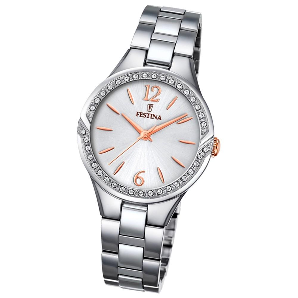 FESTINA Damen-Armbanduhr Mademoiselle F20246/1 Quarz Edelstahl silber UF20246/1