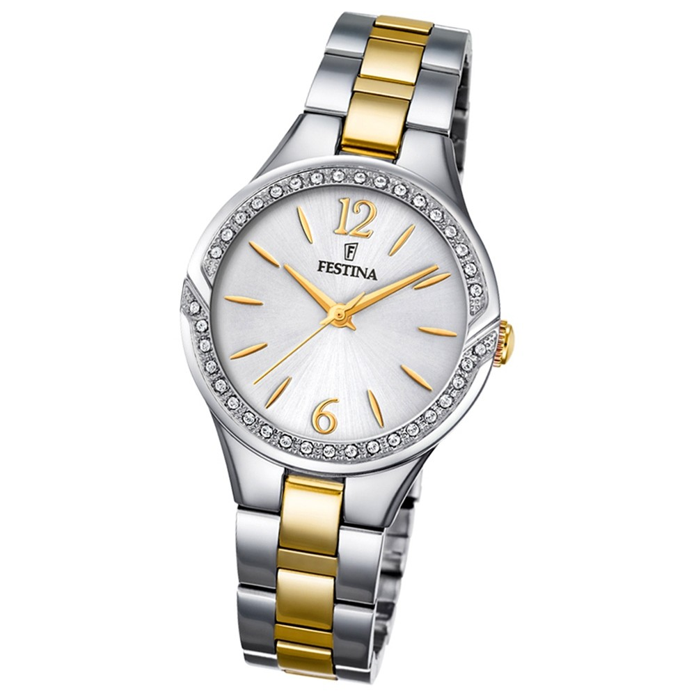 FESTINA Damen-Armbanduhr Mademoiselle F20247/2 Quarz Edelstahl silber UF20247/2