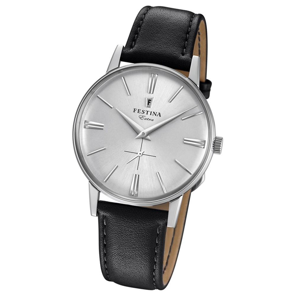 FESTINA Herren-Uhr Extra Kollektion F20248/1 Quarz Leder schwarz UF20248/1