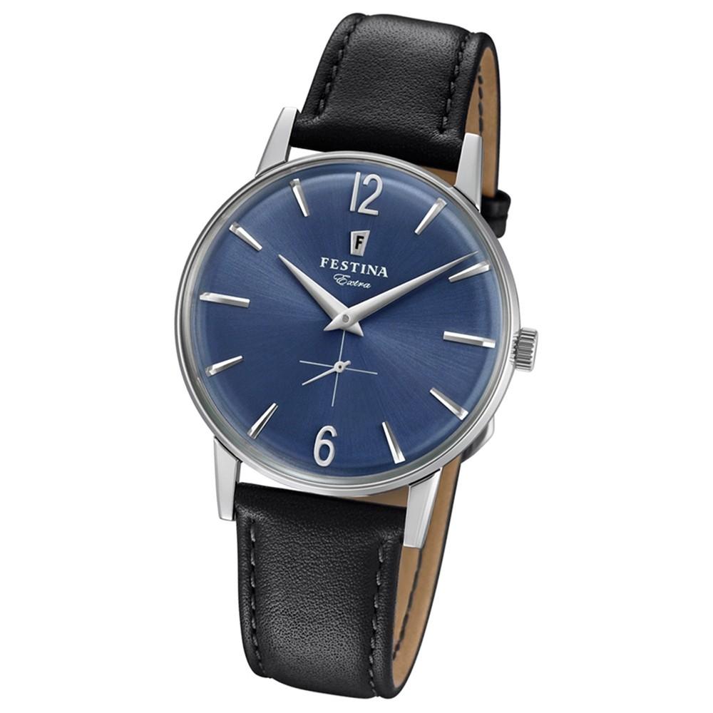 FESTINA Herren-Uhr Extra Kollektion F20248/3 Quarz Leder schwarz UF20248/3
