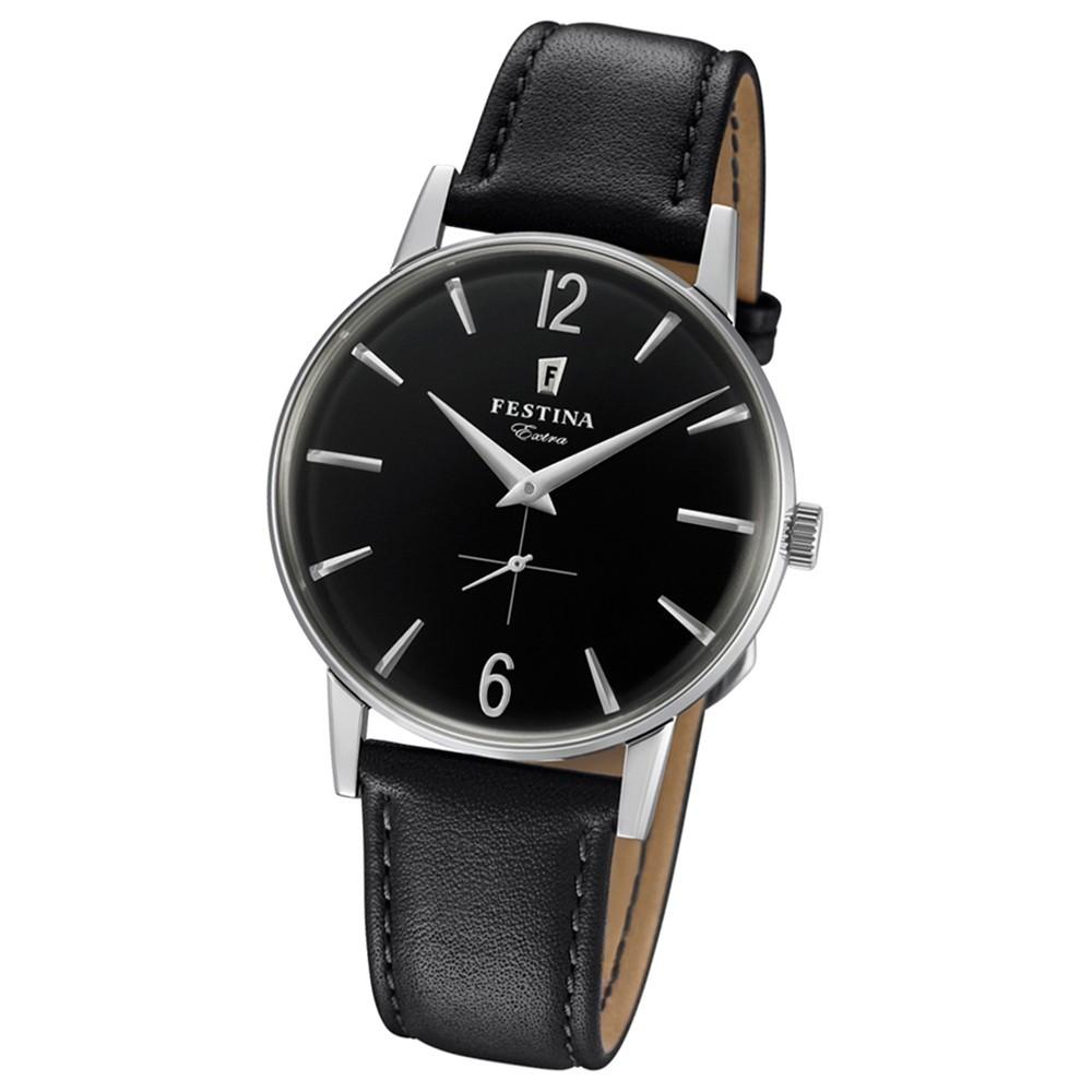 FESTINA Herren-Uhr Extra Kollektion F20248/4 Quarz Leder schwarz UF20248/4