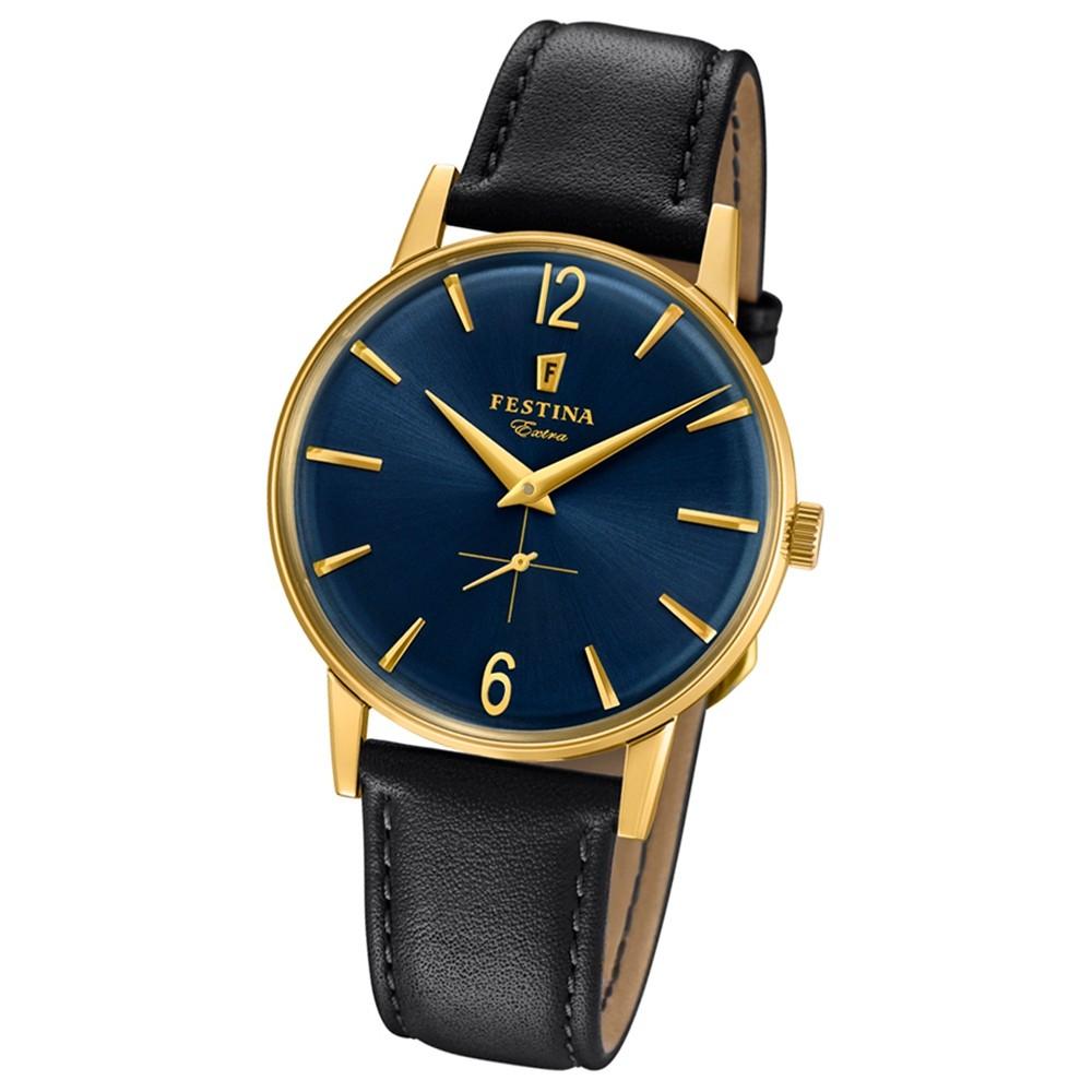 FESTINA Herren-Uhr Extra Kollektion F20249/4 Quarz Leder schwarz UF20249/4