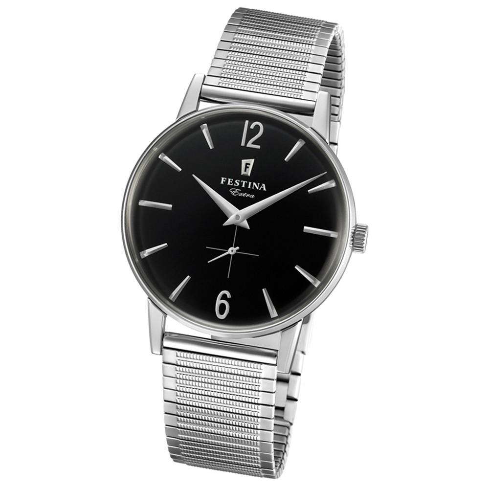 FESTINA Herren-Uhr Extra Kollektion F20250/4 Quarz Edelstahl silber UF20250/4