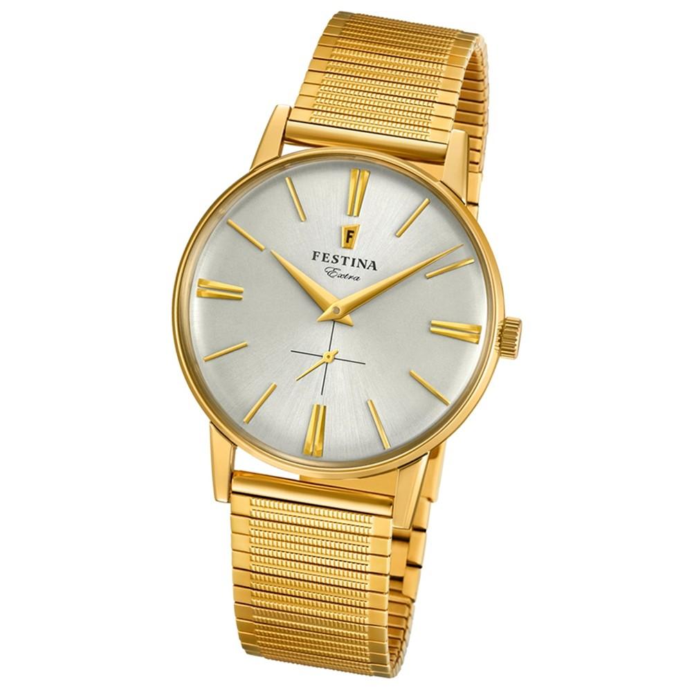 FESTINA Herren-Uhr Extra Kollektion F20251/1 Quarz Edelstahl gold UF20251/1
