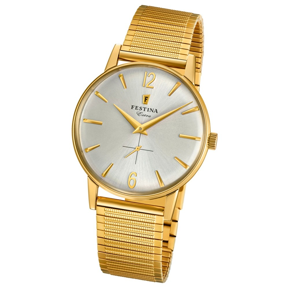 FESTINA Herren-Uhr Extra Kollektion F20251/2 Quarz Edelstahl gold UF20251/2