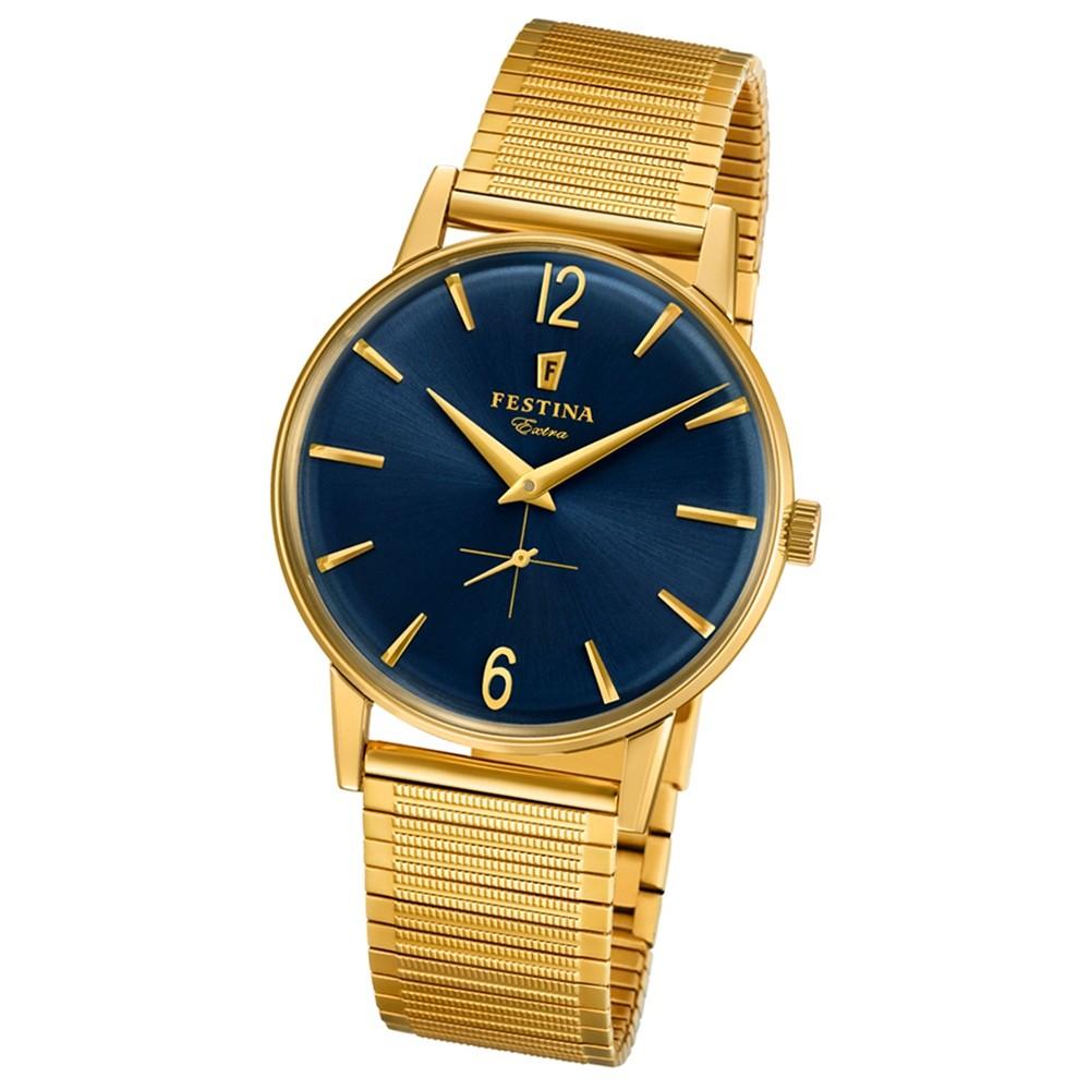 FESTINA Herren-Uhr Extra Kollektion F20251/4 Quarz Edelstahl gold UF20251/4