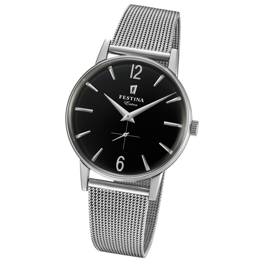FESTINA Herren-Uhr Extra Kollektion F20252/4 Quarz Edelstahl silber UF20252/4