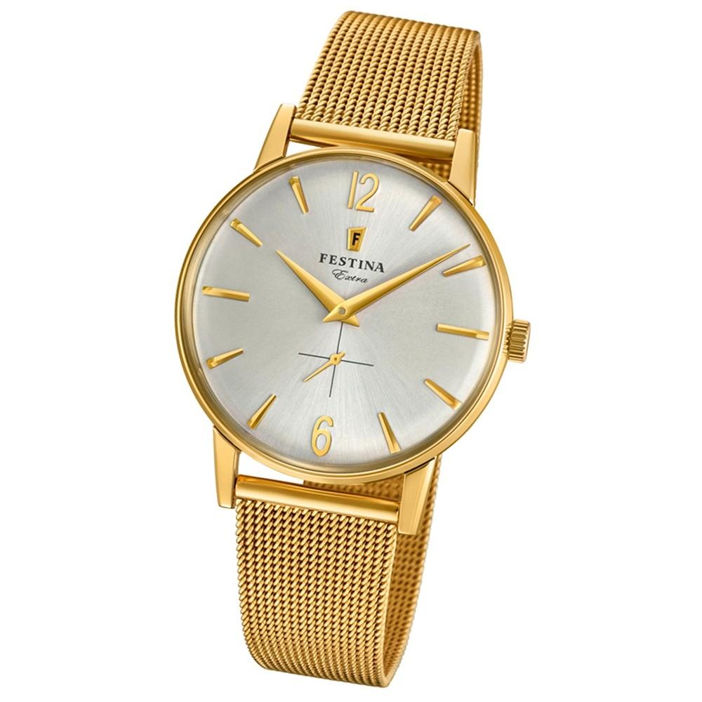 FESTINA Herren-Uhr Extra Kollektion F20253/1 Quarz Edelstahl gold UF20253/1
