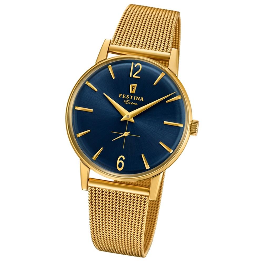 FESTINA Herren-Uhr Extra Kollektion F20253/2 Quarz Edelstahl gold UF20253/2