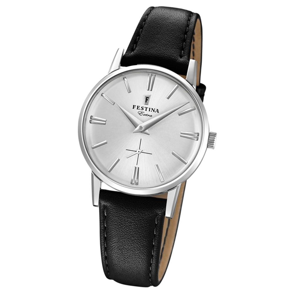 FESTINA Damen-Uhr Extra Kollektion F20254/1 Quarz Leder schwarz UF20254/1