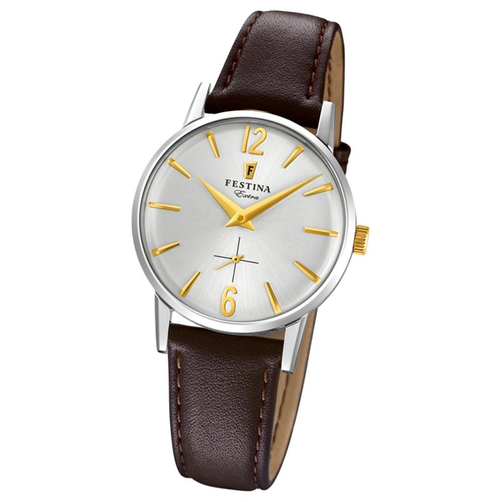 FESTINA Damen-Uhr Extra Kollektion F20254/2 Quarz Leder schwarz UF20254/2