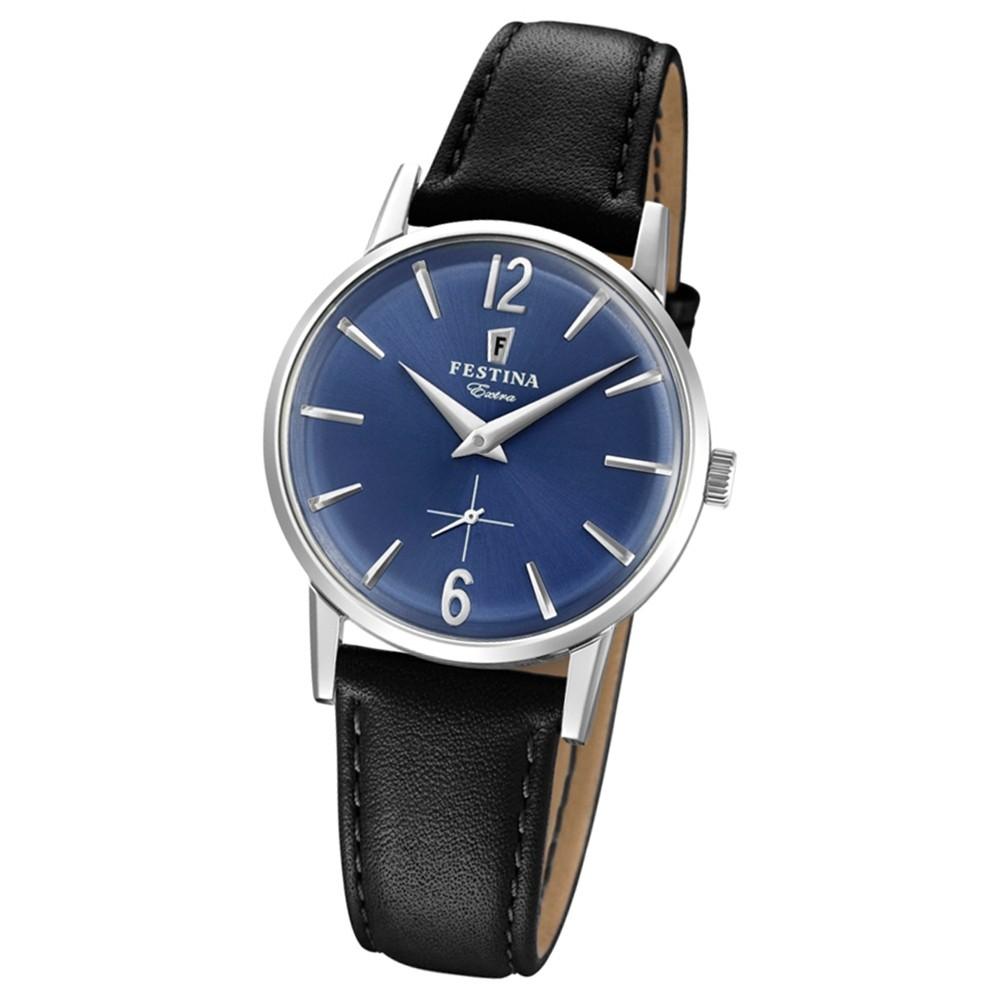 FESTINA Damen-Uhr Extra Kollektion F20254/3 Quarz Leder schwarz UF20254/3