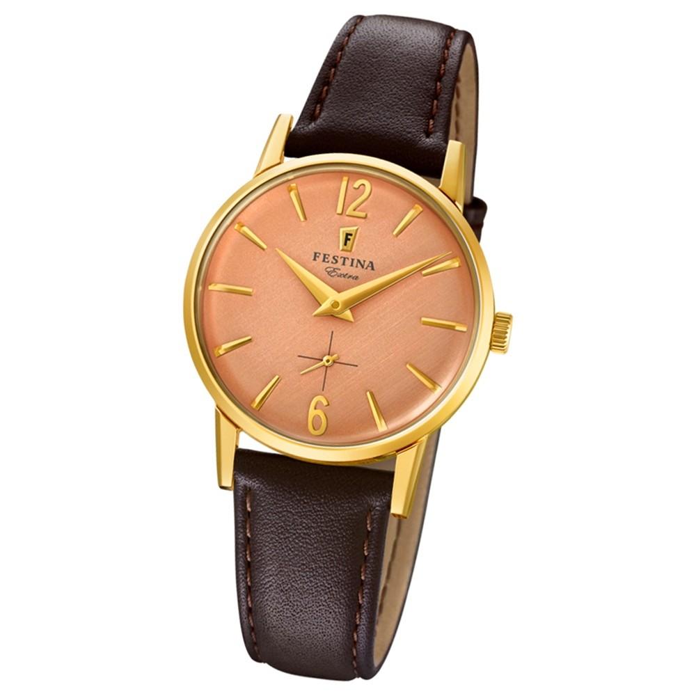 FESTINA Damen-Uhr Extra Kollektion F20255/2 Quarz Leder braun UF20255/2