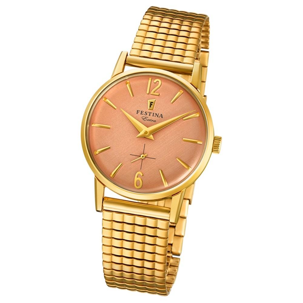 FESTINA Damen-Uhr Extra Kollektion F20257/2 Quarz Edelstahl gold UF20257/2
