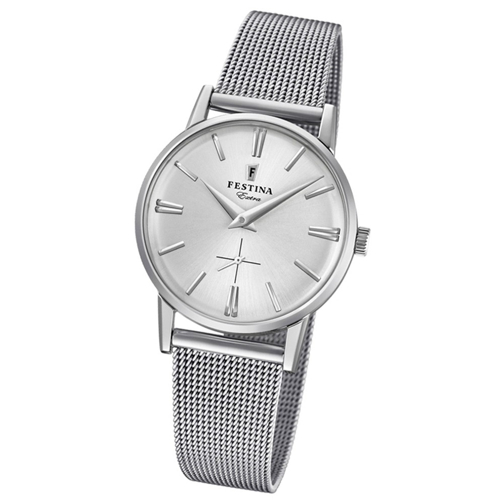 FESTINA Damen-Uhr Extra Kollektion F20258/1 Quarz Edelstahl silber UF20258/1