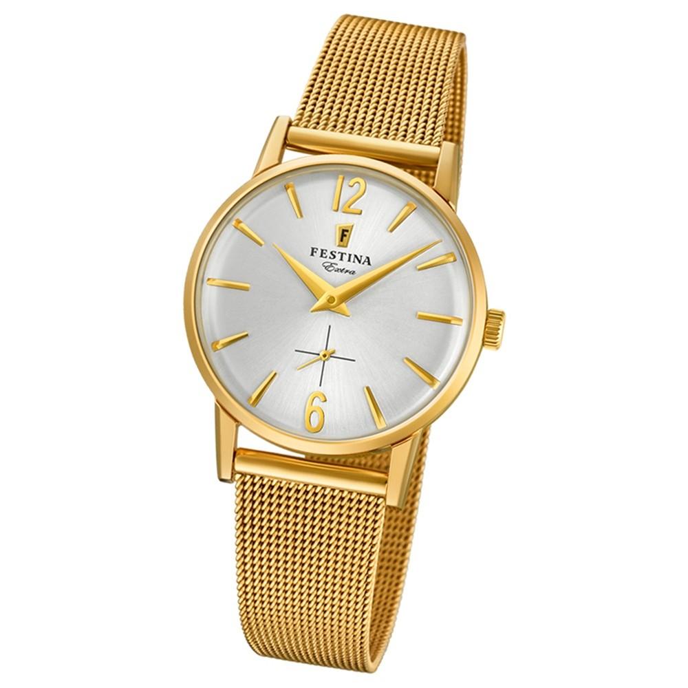FESTINA Damen-Uhr Extra Kollektion F20259/1 Quarz Edelstahl gold UF20259/1
