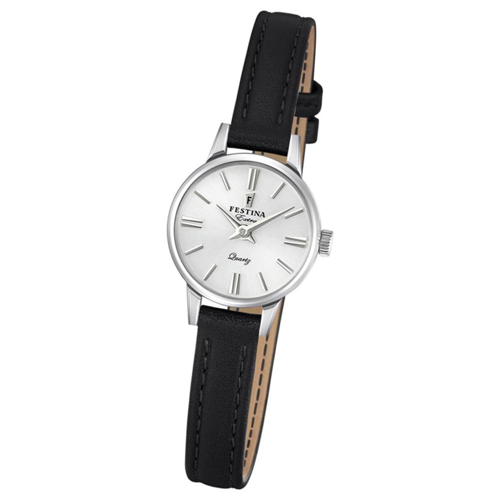 FESTINA Damen-Uhr Extra Kollektion F20260/1 Quarz Leder schwarz UF20260/1