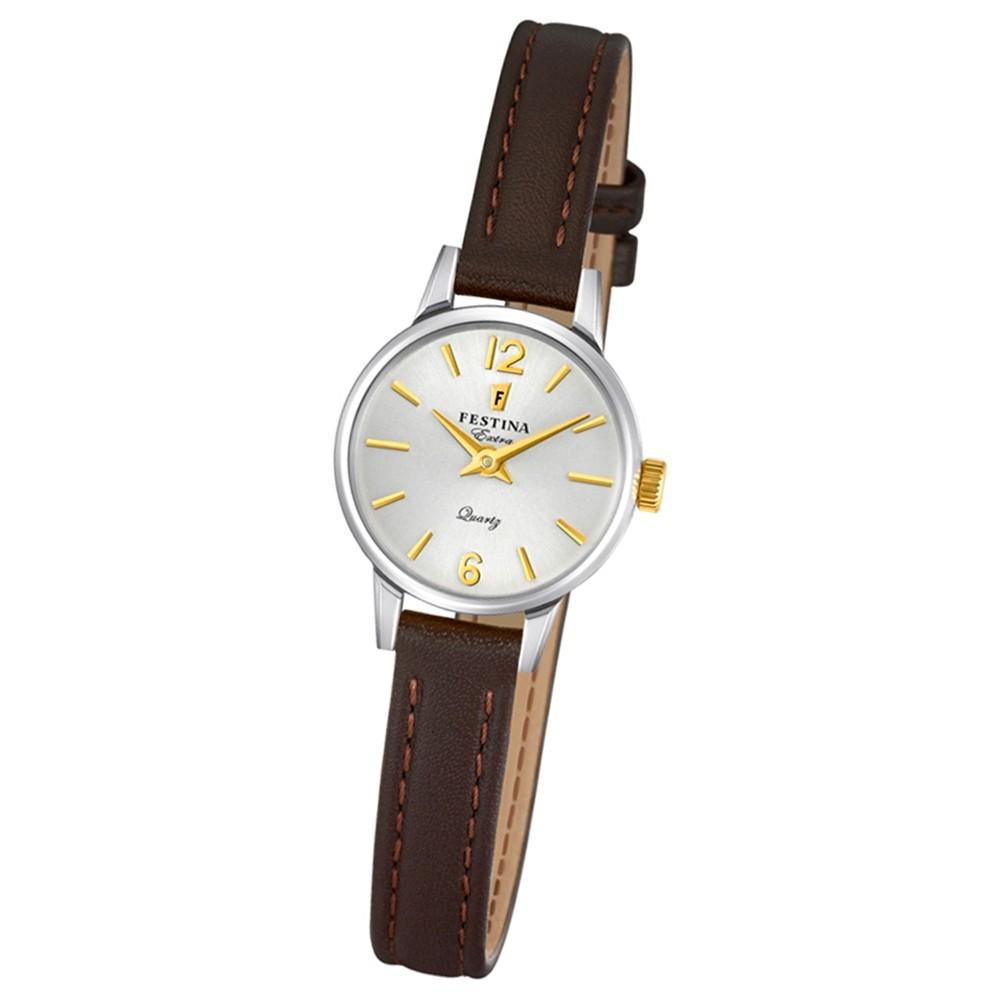 FESTINA Damen-Uhr Extra Kollektion F20260/2 Quarz Leder braun UF20260/2