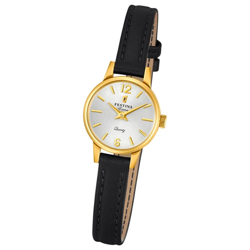 FESTINA Damen-Uhr Extra Kollektion F20261/1 Quarz Leder schwarz UF20261/1
