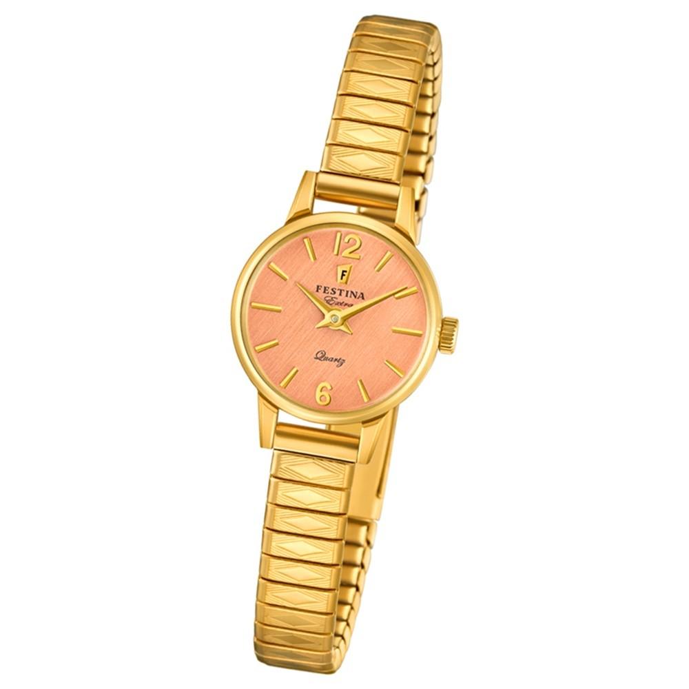 FESTINA Damen-Uhr Extra Kollektion F20263/2 Quarz Edelstahl gold UF20263/2