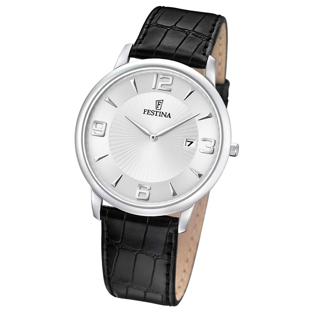 FESTINA Herren-Armbanduhr analog Quarz Leder UF6806/1