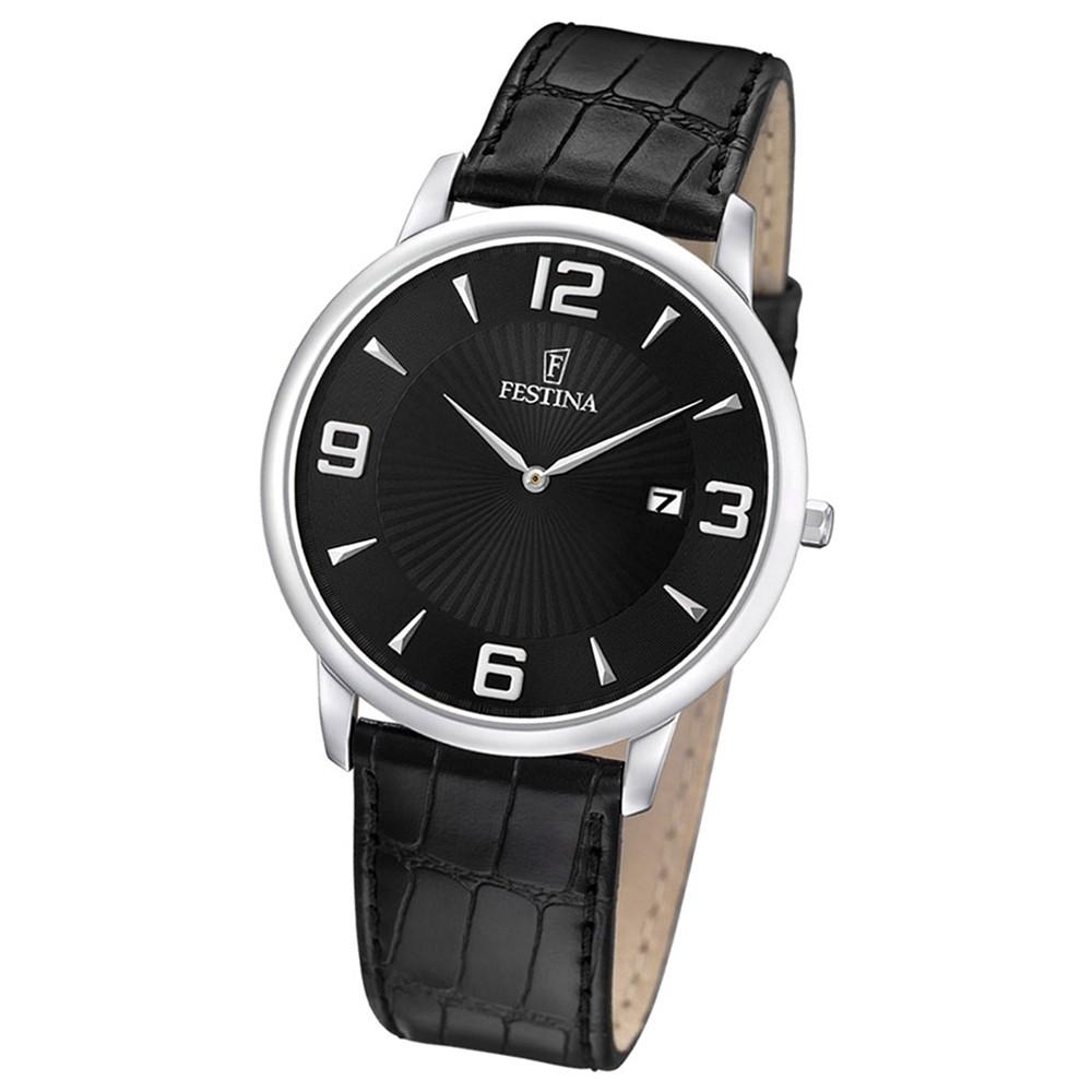 FESTINA Herren-Armbanduhr analog Quarz Leder UF6806/2