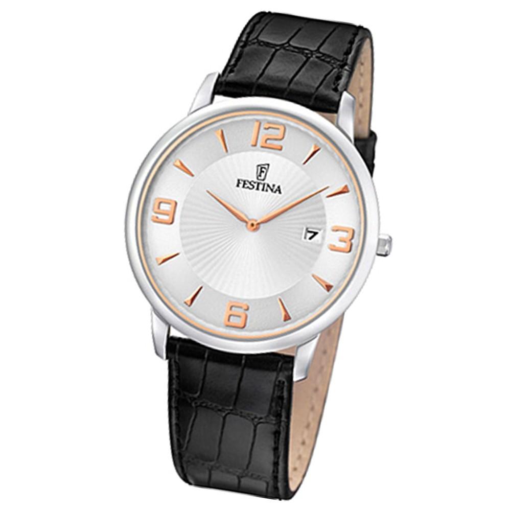 FESTINA Herren-Armbanduhr analog Quarz Leder UF6806/3