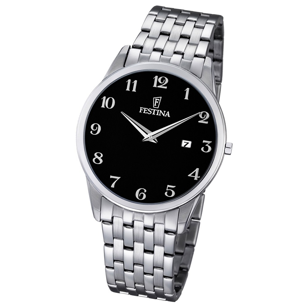 FESTINA Herren-Armbanduhr Stahlband klassisch Analog Quarz Edelstahl UF6833/4