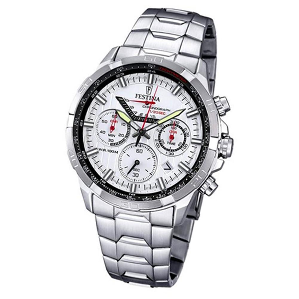 FESTINA Herren-Armbanduhr Chronograph Quarz Edelstahl silber Sport Uhr UF6836/1